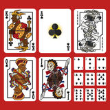 Club Suit Playing Cards Full Set Royalty Free Stock Photo