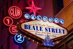 Club sur la rue de Beale images stock