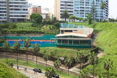 Club Tennis Las Terrazas in Miraflores, Lima, Peru Royalty Free Stock Images