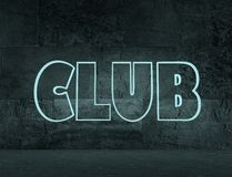Club text Royalty Free Stock Photo