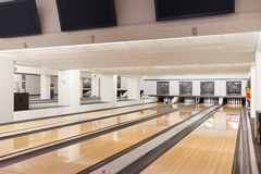 Club vide de bowling Photos stock