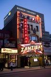 Club y Ryerson del stip de Zanzibar en Toronto Imagenes de archivo