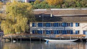 Club Zurich de Limmat Foto de archivo libre de regalías