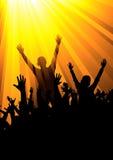 Clubbers & DJ royalty-vrije illustratie