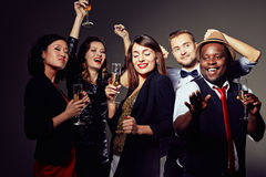 Clubbers with champagne Stock Photography