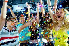 Clubbers, das Spaß hat Stockfoto