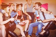 Clubbers de nuit Photo libre de droits