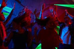 Clubbers energéticos fotografia de stock