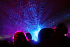 Clubbing concept. People at the party concept; lighting effect Stock Photo