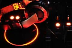 Clubbing. Dj headphones Royalty Free Stock Images