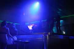 Clubbing em Faliraki, Grece da vida noturna fotografia de stock royalty free