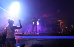 Clubbing em Faliraki, Grece da vida noturna imagem de stock royalty free