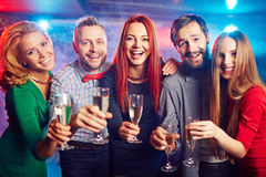 Clubbing friends Royalty Free Stock Images