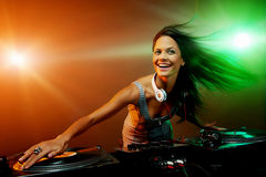 Clubbing party dj Royalty Free Stock Image