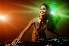 Clubbing party dj Stock Photography
