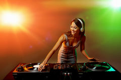 Clubbing party dj Royalty Free Stock Photography