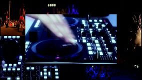 Clubbing party dj,reflector vj lights.... stock video