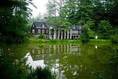 Clube da excursão de Dartmouth na lagoa Hanover NH de Occom Fotos de Stock