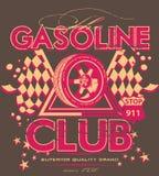 Clube da gasolina ilustração do vetor