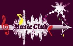 Clube da música ilustração royalty free