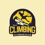 Clube de escalada do emblema profissional moderno do logotipo do vetor Fotografia de Stock Royalty Free