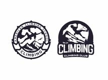 Clube de escalada do emblema profissional moderno do logotipo do vetor Imagem de Stock Royalty Free