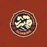 Clube de escalada do emblema profissional moderno do logotipo do vetor Foto de Stock