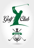 Clube de golfe Logo And Icon Fotos de Stock