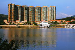 Clube de iate em Gold Coast Hong Kong Fotografia de Stock
