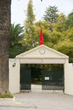 Clube de tênis confidencial Carthage da entrada Tunísia Fotografia de Stock Royalty Free