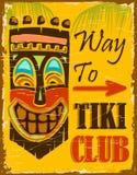 Clube de Tiki ilustração do vetor