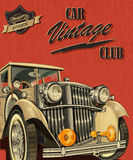 Clube do carro do vintage ilustração do vetor