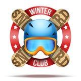 Clube do esqui ou crachás e etiquetas da equipe Fotografia de Stock Royalty Free