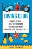 Clube do mergulho Imagem de Stock Royalty Free