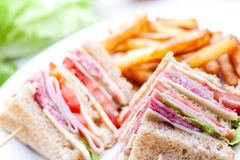 Clube do sanduíche Fotos de Stock Royalty Free