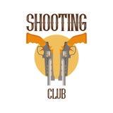 Clube do tiro do logotipo Fotos de Stock Royalty Free