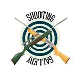 Clube do tiro do logotipo Imagens de Stock Royalty Free