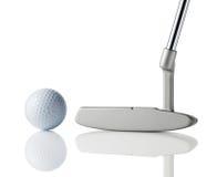 Clube e esfera de golfe Fotos de Stock