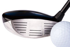 Clube e esfera de golfe Fotos de Stock Royalty Free