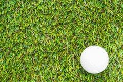 Clube e esfera de golfe na grama fotos de stock