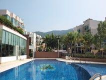 Clube e piscina Imagens de Stock
