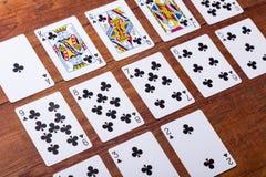 Clubes ajustados de cartões de jogo Imagem de Stock