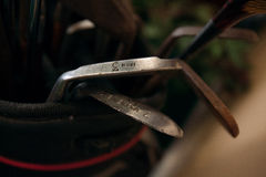 Clubes de golfe Fotografia de Stock