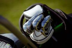 Clubes de golfe no saco Fotografia de Stock Royalty Free