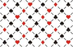 Clubes, diamantes, corações e patt sem emenda das pás Foto de Stock