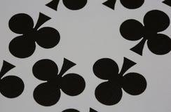 Clubes dos cartões de jogo do casino do pôquer Fotos de Stock Royalty Free