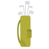 Clubes e saco de golfe Imagens de Stock Royalty Free