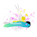 Clubes ginásticos rítmicos artísticos do esboço do vetor Imagens de Stock Royalty Free