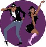Clubgoers royalty-vrije illustratie