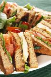 Clubhouse sandwich. With grilled chicken and bacon. Also available in horizontal Stock Photo